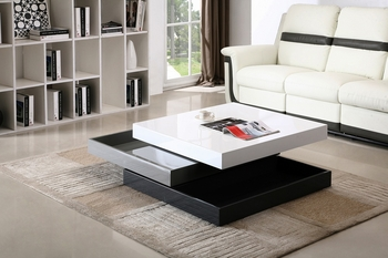 J&M Modern Rotary Coffee Table CW01