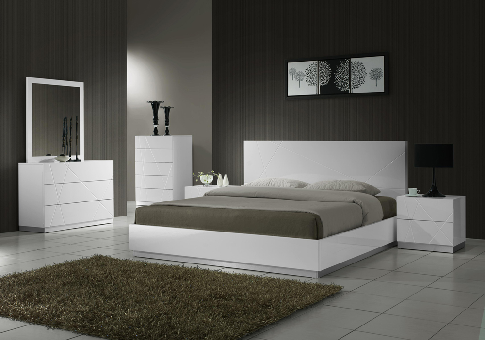 Modern J&M Naples bedroom set queen contemporary Potomac ...