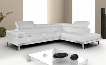 "J&M ""Nicoletti"" Premium Leather Sectional"