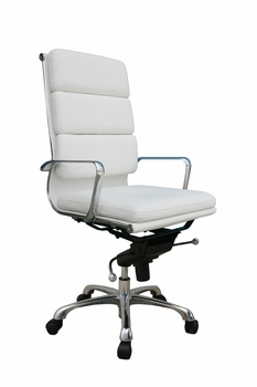 J&M Plush Brown High Back Office Chair