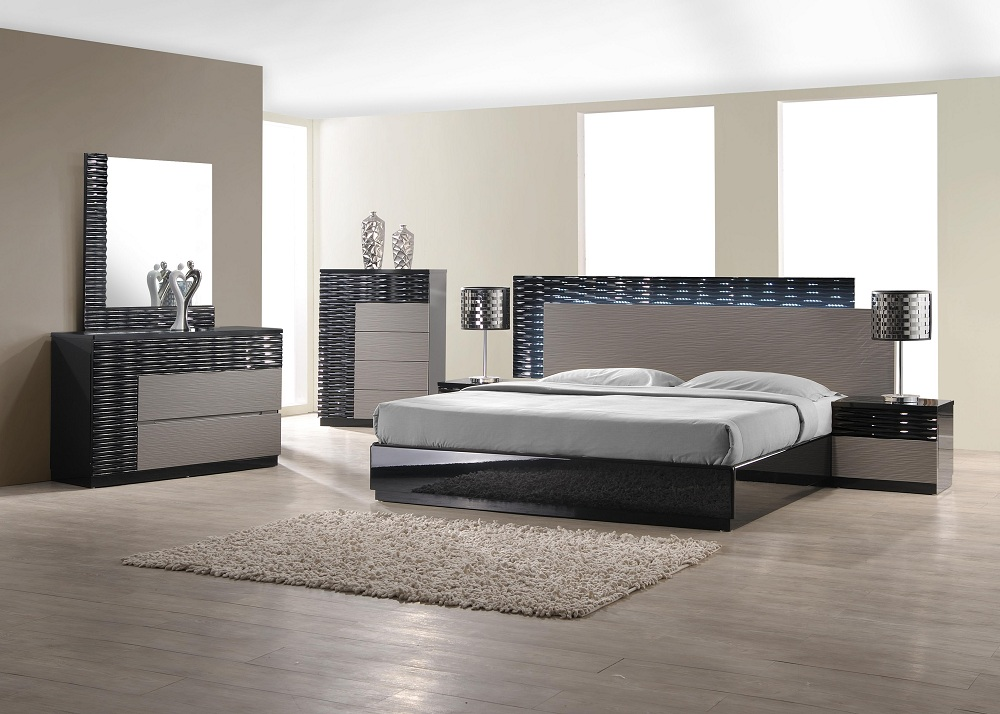 Modern J M Roma Bedroom Set Queen Contemporary Mclean Va Furniture