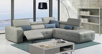 J&M S300 Premium Leather Sectional