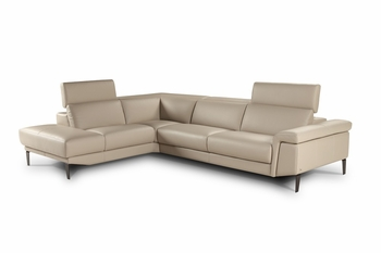 J&M Sharon Italian Premium Leather Sectional