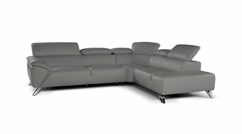 J&M Tesla Italian Premium Leather Sectional