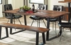 Jamestown Rustic Live Edge Dining Table