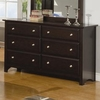 Jasper 6 Drawer Dresser with Beveled Drawer Fronts