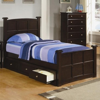 Jasper Twin Storage Bed with Drawers one side