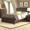 Jaxson King Bed with Upholstered Headboard and Storage Footboard