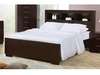 Jessica King Contemporary Bed with Storage Headboard and Built in Lighting