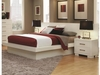 Jessica King Platform Bed with Rail Seating and Lights