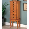 Jewelry Armoires Classic Oak Jewelry Armoire