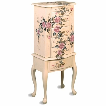 Jewelry Armoires Hand Painted Jewelry Armoire