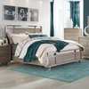 Johnathan King Panel Bed with Chome Accents
