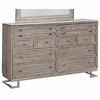 Johnathan Modern Dresser with White Glass Top