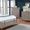 Johnathan Modern Five Drawer Chest with Glass Top