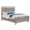 Johnathan Queen Panel bed with Chrome Accents