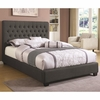 King Chloe Upholstered Bed with Tufted Headboard & Neutral Color Fabric