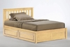 King size Rosa Mission platform bed with Two storage drawers