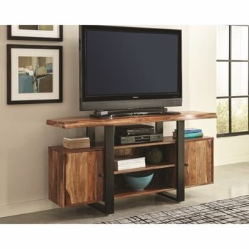 Knox Industrial Live Edge TV Stand