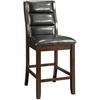 Lacombe Upholstered Leatherette Counter Height Chair