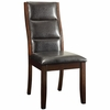 Lacombe Upholstered Leatherette Parson Chair