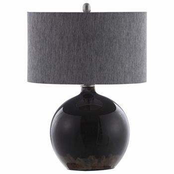 Lamps Table Lamp with Dark Grey Base by Donny Osmond Home
