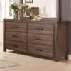 Lancashire Six Drawer Dresser with Felt-Lined Top Drawers and Removable Jewelry Tray