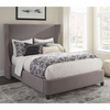 Langevin Upholstered Full Bed with Demi-Wing Headboard