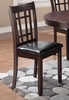 Lavon Dining Side Chair With Padded Vinyl Seat
