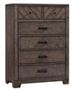 Lawndale 6 Drawer Rustic Chest w/ Felt-Lined Drawers