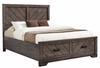 Lawndale Rustic King Storage Bed