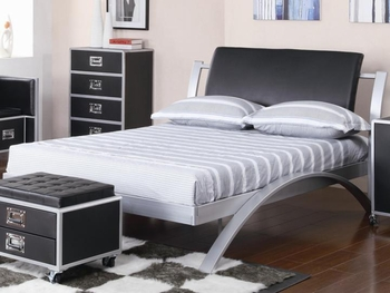 LeClair Full Metal Platform Bed Youth Collection