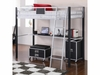 LeClair Twin Loft Bed with Desk Youth Bedroom Collection