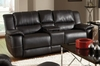 Lee Transitional Double Reclining Gliding Loveseat with Console