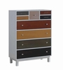 Lemoore Multi-Color Chest of Drawers with Nine Drawers