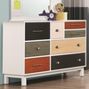 Lemoore Multi-Color Dresser with Eight Drawers