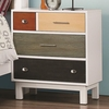Lemoore Mutli-Color Nightstand with Four Drawers