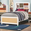 Lemoore Twin Multi-Color Bookcase Bed with Three Drawers