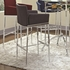 Linen Fabric Bar Stool (Charcoal)