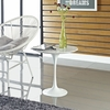 "LIPPA 20"" MARBLE SIDE TABLE IN WHITE"