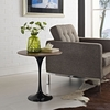 "LIPPA 20"" WOOD SIDE TABLE IN BLACK"