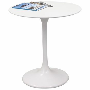"LIPPA 28"" FIBERGLASS DINING TABLE IN WHITE"