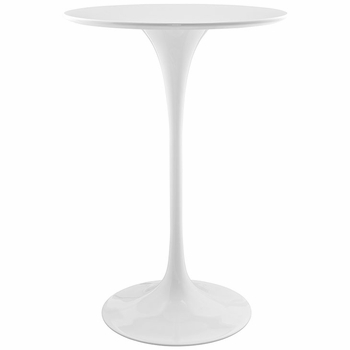 "LIPPA 28"" WOOD BAR TABLE IN WHITE"