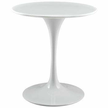 "LIPPA 28"" WOOD TOP DINING TABLE IN WHITE"