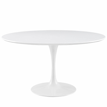 "LIPPA 54"" WOOD TOP DINING TABLE IN WHITE"