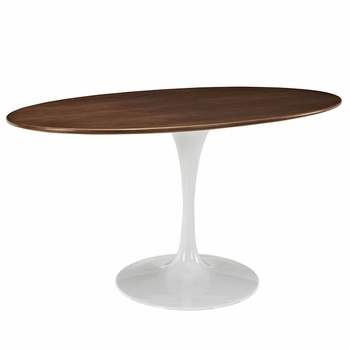 "LIPPA 60"" OVAL-SHAPED WALNUT DINING TABLE IN WALNUT"