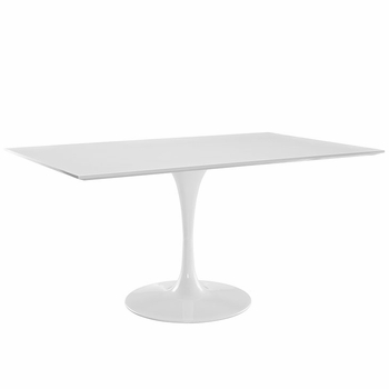 "LIPPA 60"" RECTANGLE DINING TABLE IN WHITE"