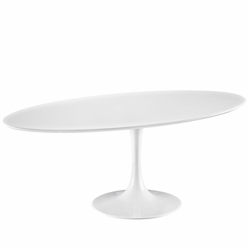 "LIPPA 78"" WOOD TOP DINING TABLE IN WHITE"