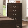 Louis Philippe 202 5 Drawer Chest with Silver Bails