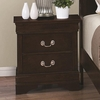 Louis Philippe 202 Night Stand with 2 Drawers
